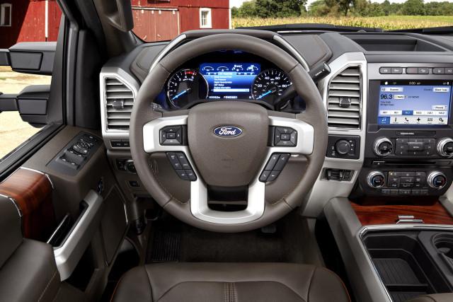 2017 Ford Super Duty dash