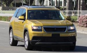 2018 Volkswagen Three-Row Crossover spy