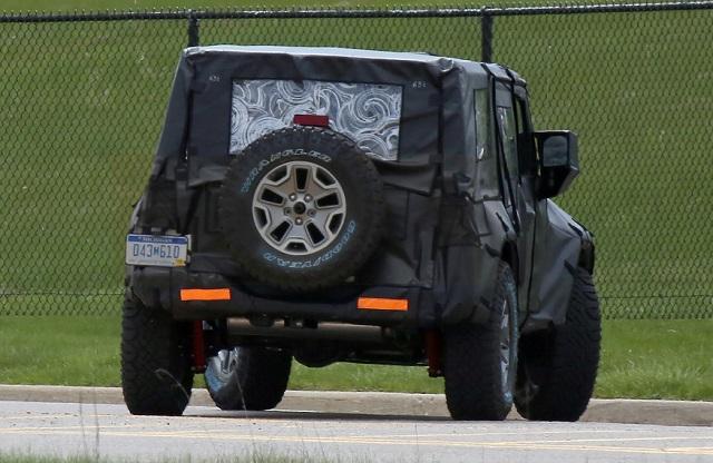 2018 Jeep Wrangler Unlimited spy rear