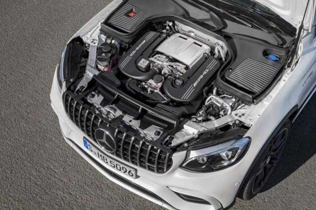 2018 Mercedes-AMG GLC63 Coupe engine