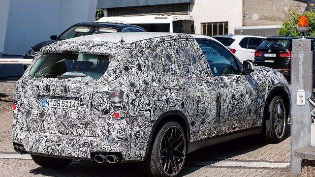 2019 BMW X5 M spy-rear