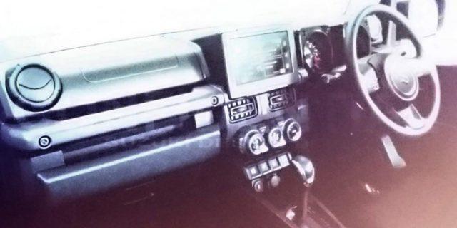 2018 Suzuki Jimny leaked interior