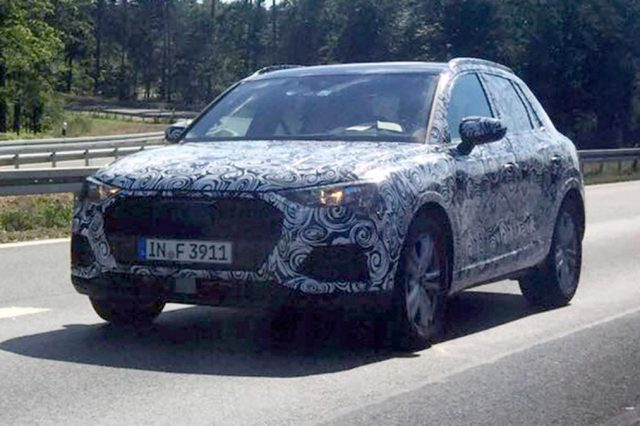 2019 audi q3 spied in a new suit new dimensions and engines attractive exterior styling suvs. Black Bedroom Furniture Sets. Home Design Ideas