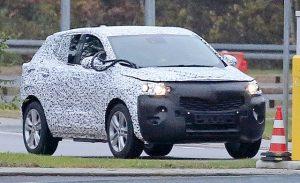 2019 Opel Mokka X spy front
