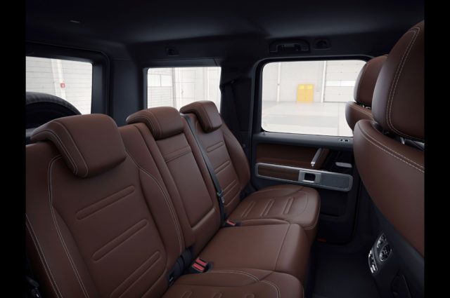 2019 Mercedes-Benz G-Class rear seats