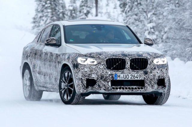 2019 BMW X4 M spy shots front