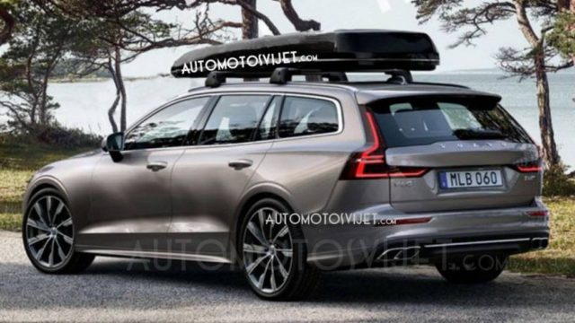 2019 Volvo V60 leaked photos rear
