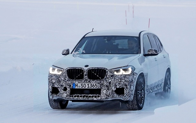 2019-BMW-X3 M Front end spy