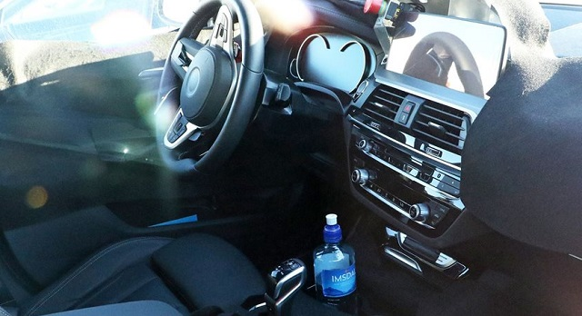 2019 BMW X3 M interior spy