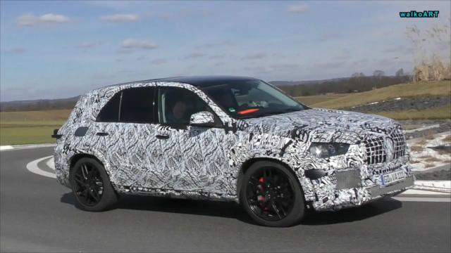 new Mercedes-AMG GLE 63 spy side