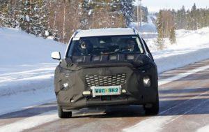 2020 Hyundai Palisade spy front