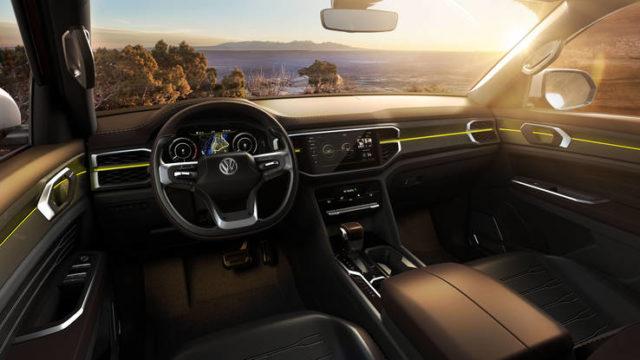 Volkswagen Atlas Tanoak concept cabin