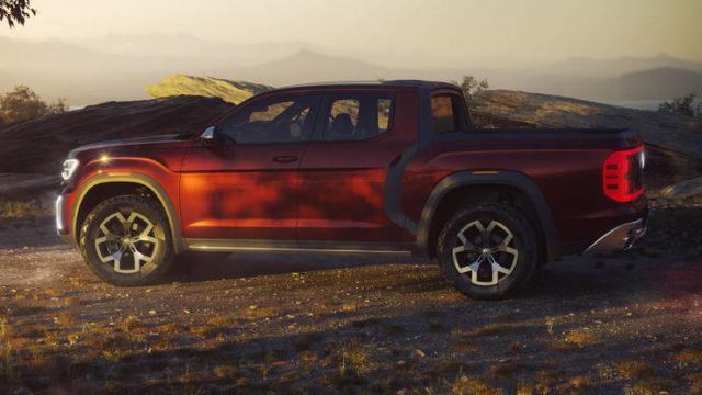 Volkswagen Atlas Tanoak concept side