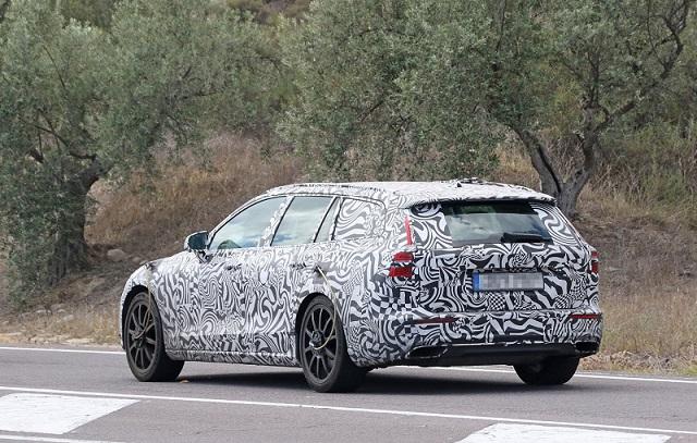 2020 Volvo V60 R spy shots rear