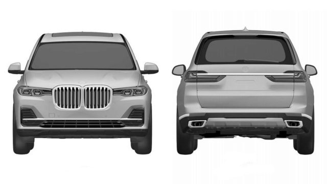 2019 BMW X7 patent images