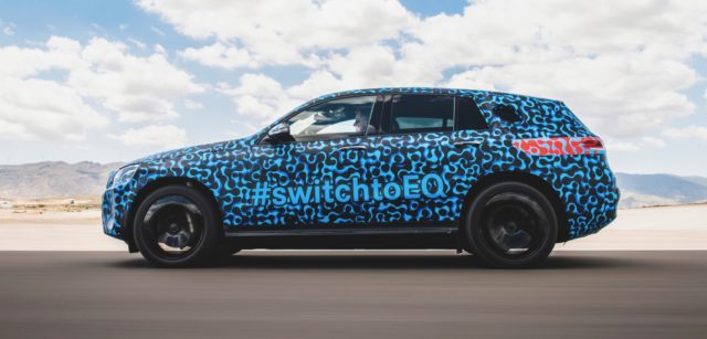 2020 Mercedes-Benz EQC spy side