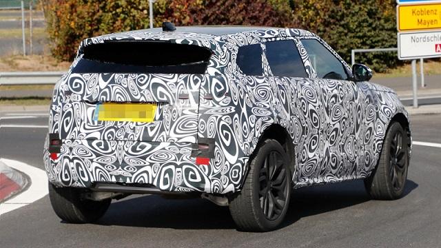 2019 Range Rover Evoque spy rear