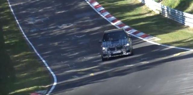 2020 BMW X5 M spy shots at Nurburgring