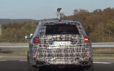 2020 BMW X5 M spy shots rear