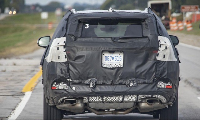 Buick three-row SUV spy rear