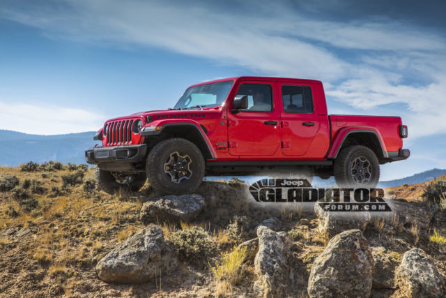 2020 Jeep Gladiator Rubicon side
