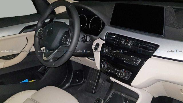 2020 BMW X1 spy shots cabin