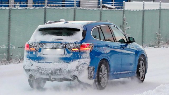 2020 BMW X1 spy shots rear