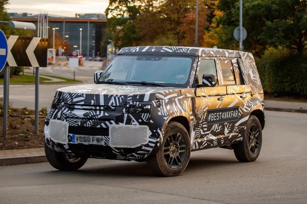 2020 Land Rover Defender spy front