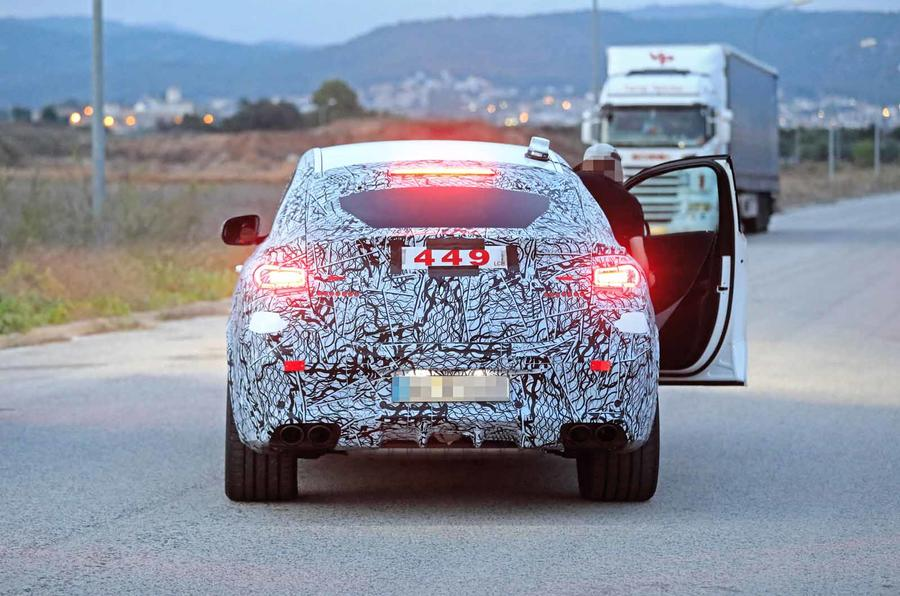 2021 Mercedes-AMG GLE 53 Coupe spy rear