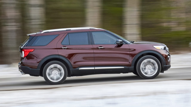 new-gen Ford Explorer side view