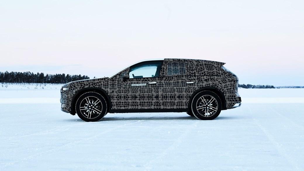 2021 BMW iNext electric SUV spy side