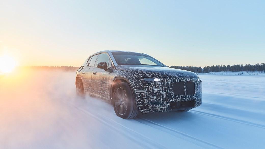 2021 BMW iNext electric SUV spy