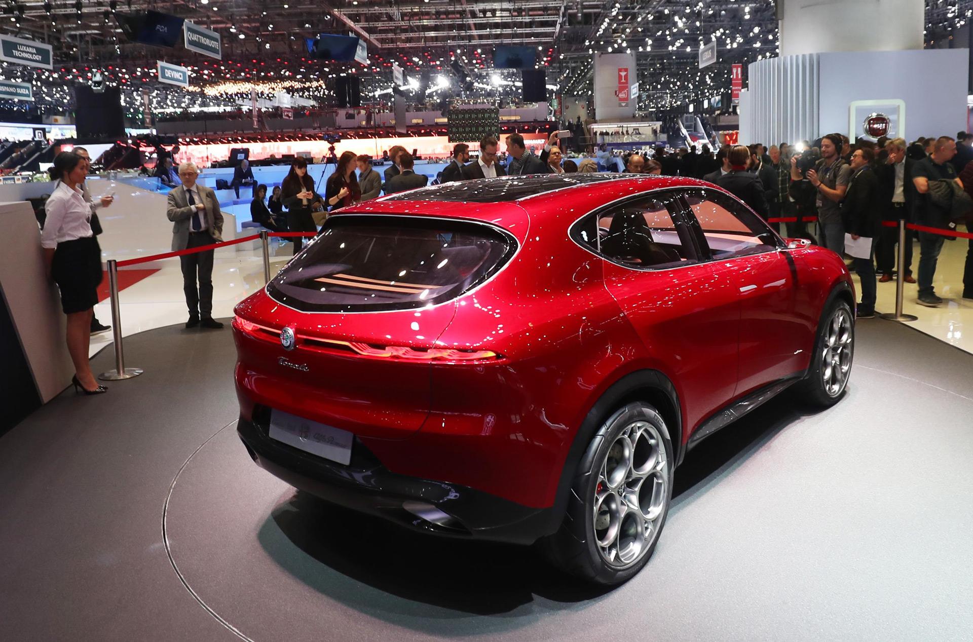 2021 Alfa Romeo Tonale Compact SUV rear view