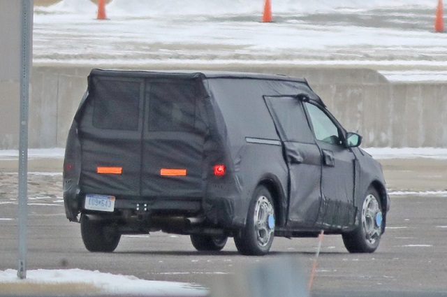 2021 Ford Courier spy rear