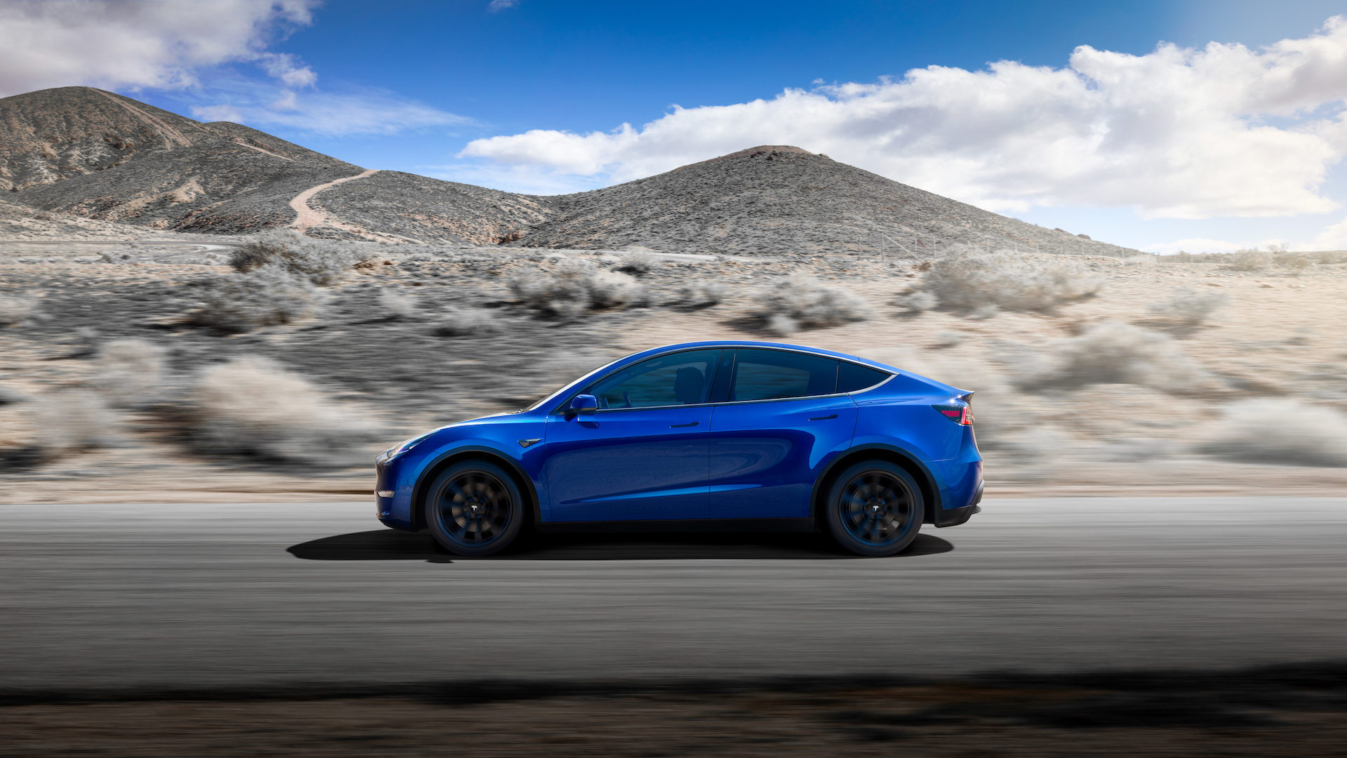 2021 Tesla Model Y side view