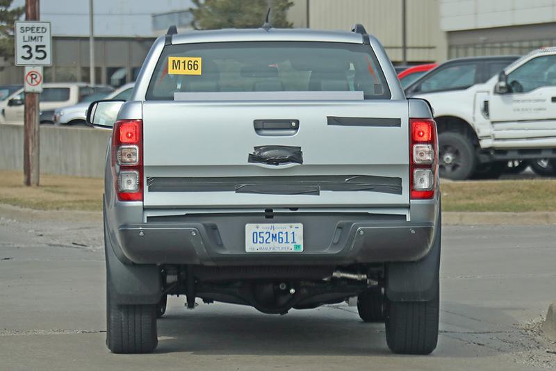 U.S.-specs 2020 Ford Ranger Diesel spy rear