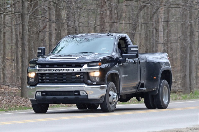 2020 Chevy Silverado Hd Regular Cab Dually Spied Uncovered